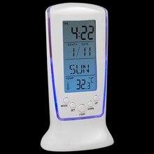 цена на Intelligent Home Furnishing Digital LED Backlight LCD Display Table Alarm Clock Thermometer Calendar White