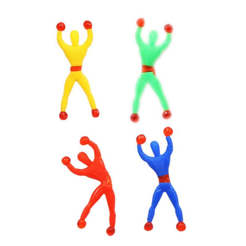1pcs Novelty Sticky Wall Climbing Flip Spider Man Climber Classic Toys Gags & Practical Jokes Kids Children Toys Random Color