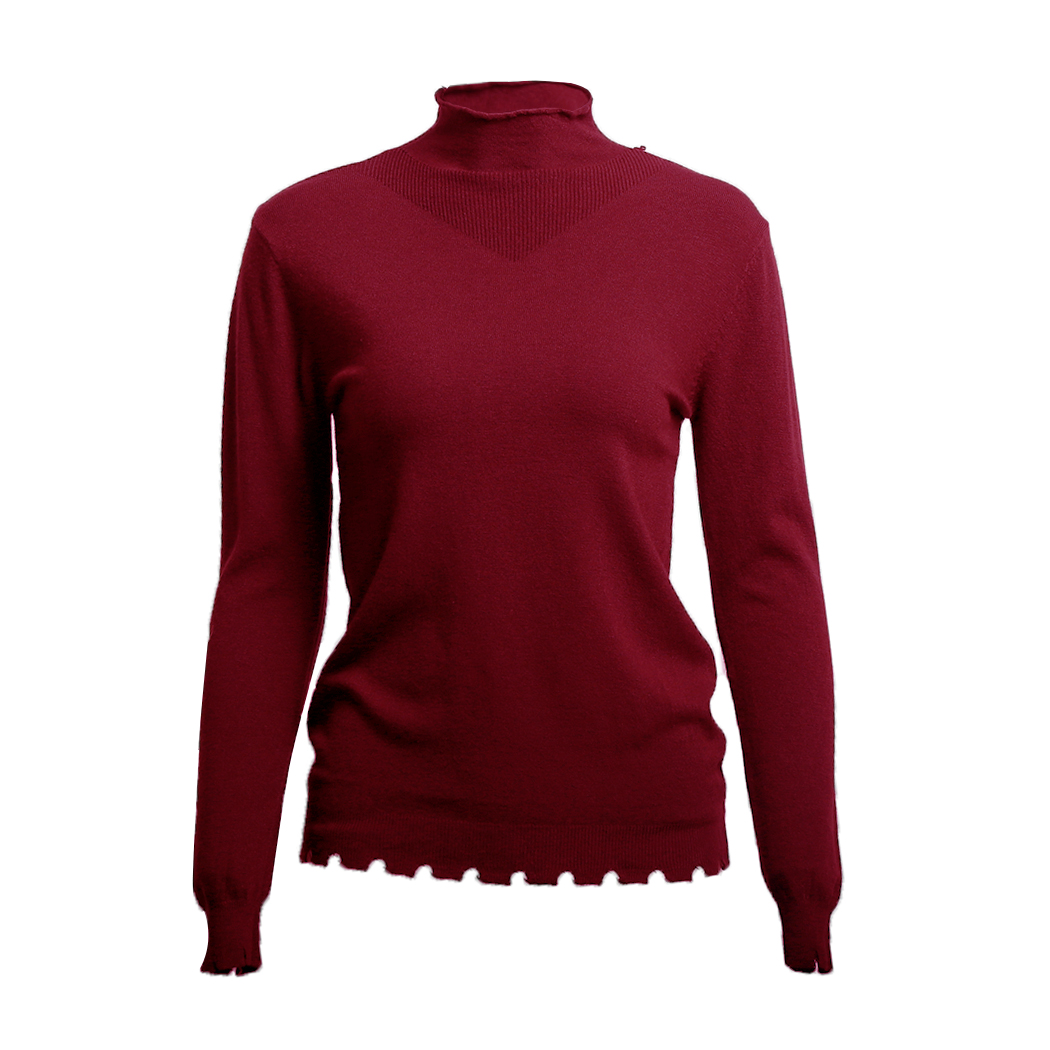 Elegant Women Stand Collar Sweater Autumn Knitted Long