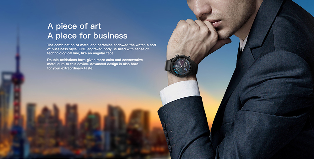 MT6739 Kospet Hope 4G Android7.1.1 3GB 32GB 1.39 Business Smart Watch with AMOLED WIFI GPS GLONASS 8.0MP for Men and Women 4