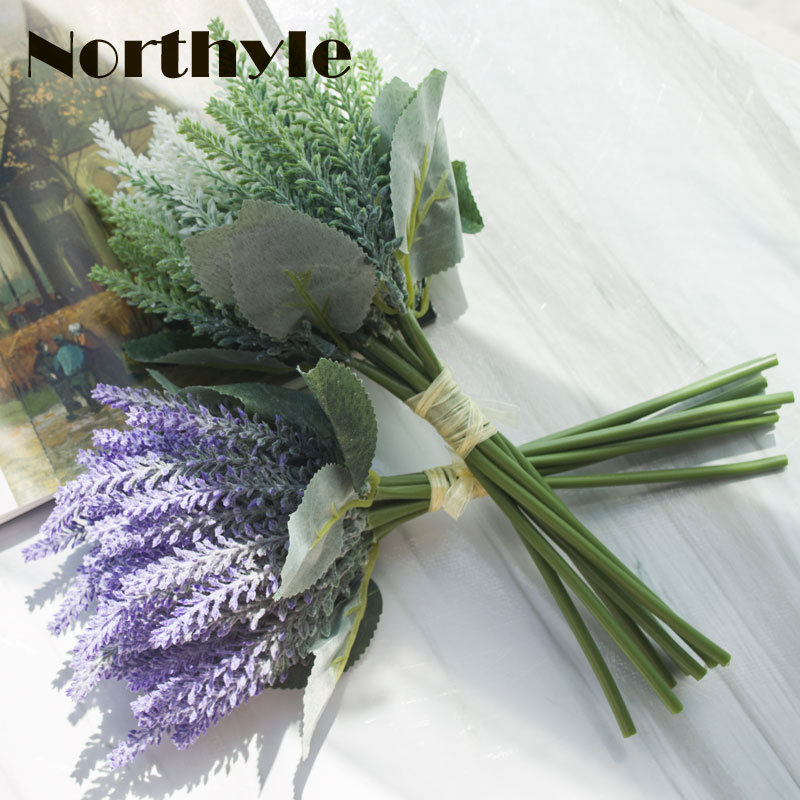 Northyle FS128658 Kunstmatige lavendel bloem bruidsboeket decoratie - Feestversiering en feestartikelen - Foto 1