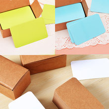 100pcs Vintage Blank Card DIY Greeting Cards Graffiti Word Wedding Party Gift Thick Kraft Paper Postcards WXV Sale