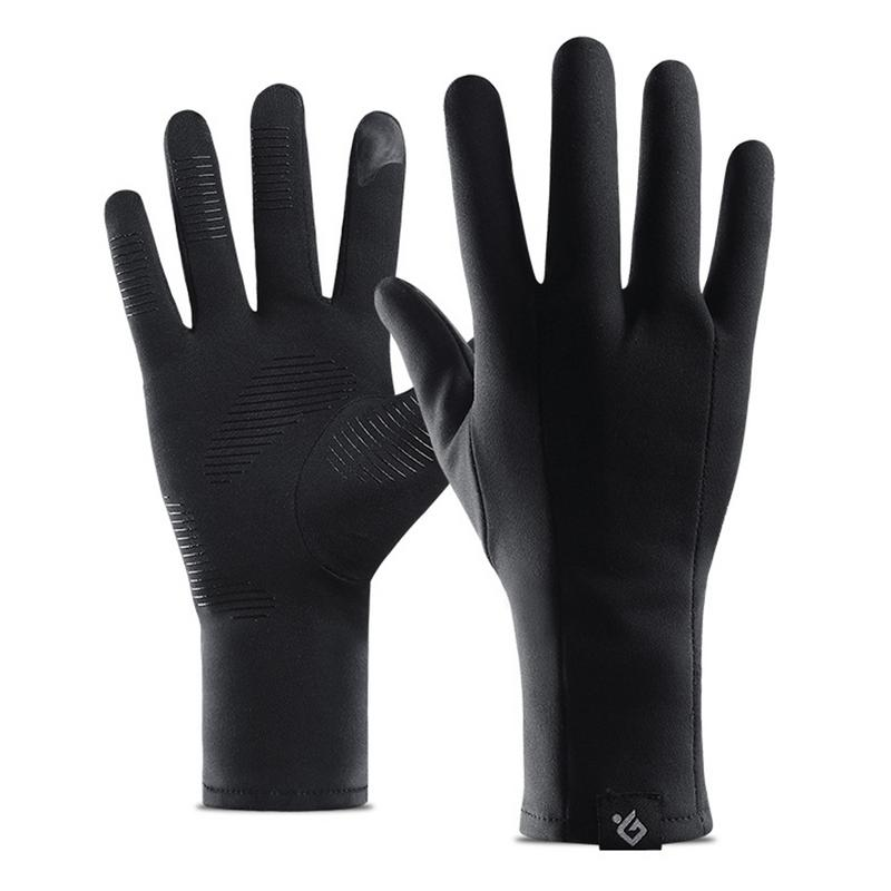 Winter Light Running Cycling Gloves Unisex Outdoor Sports Gloves Warm Touch Screen Full Fingered Windproof Non-slip Fleece-lined