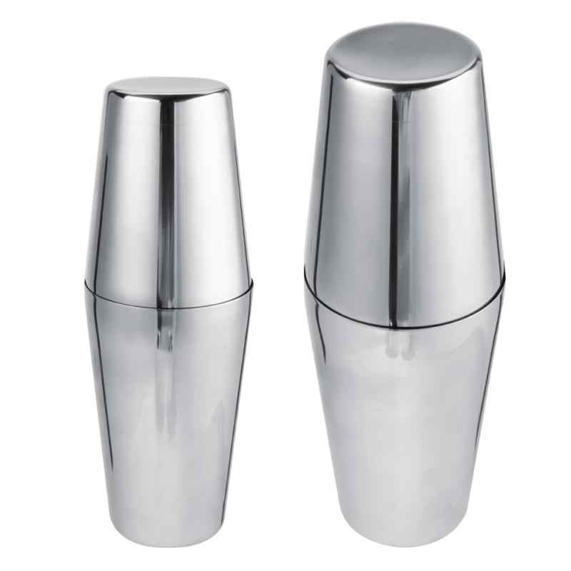 Boston Cocktail Shakers Martini Bar Cocktail Shaker Stainless Steel Flair Mixing Tin Set Party Bar Tools