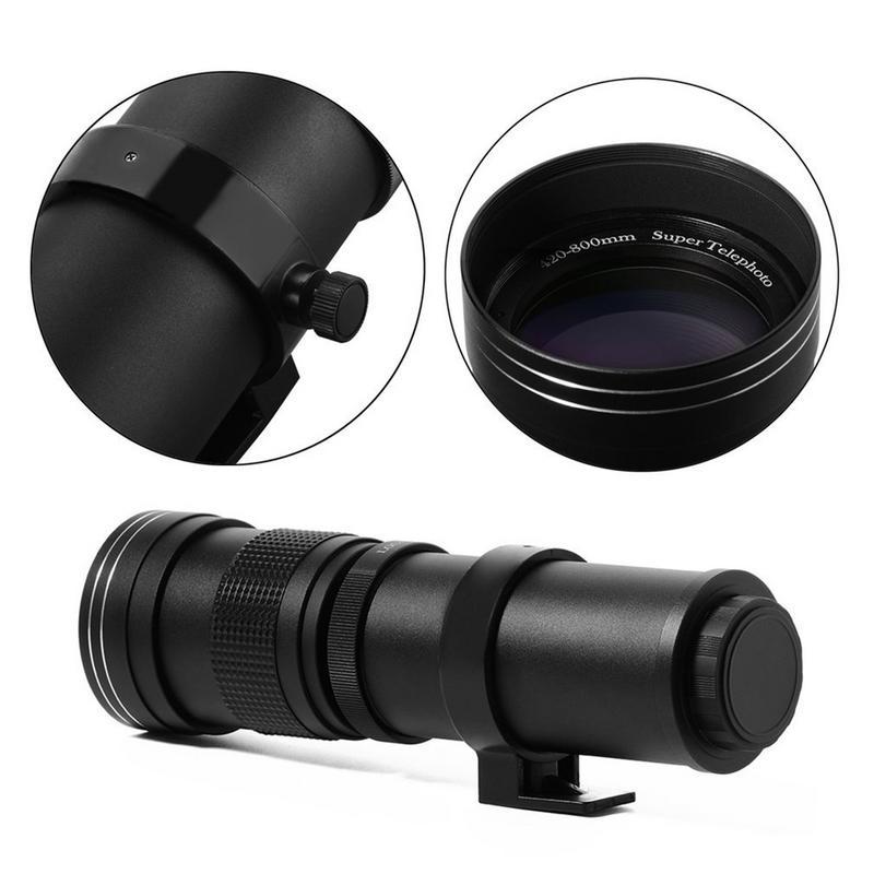 420-800mm F/8.3-16 Super Téléobjectif Zoom Manuel Lentille T-Mont Pour DSLR SLR caméras Canon EOS DSLR 600D 700D 650D 750D 1100D 1200D - 2