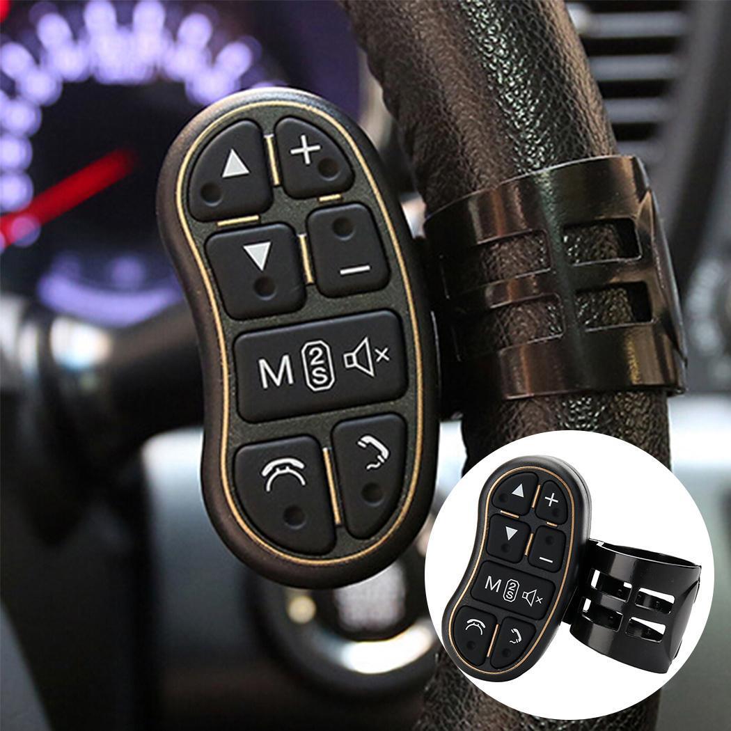 Sailnovo Car Steering Wheel Remote Controller General Car DVD GPS Player Steering Black Wheel Remote Controller Key Button
