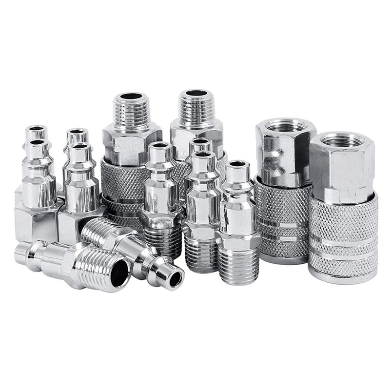 12Pcs 1//4 inch and 3//8 inch BSP Air Line Hose Compressor Fitting Connector