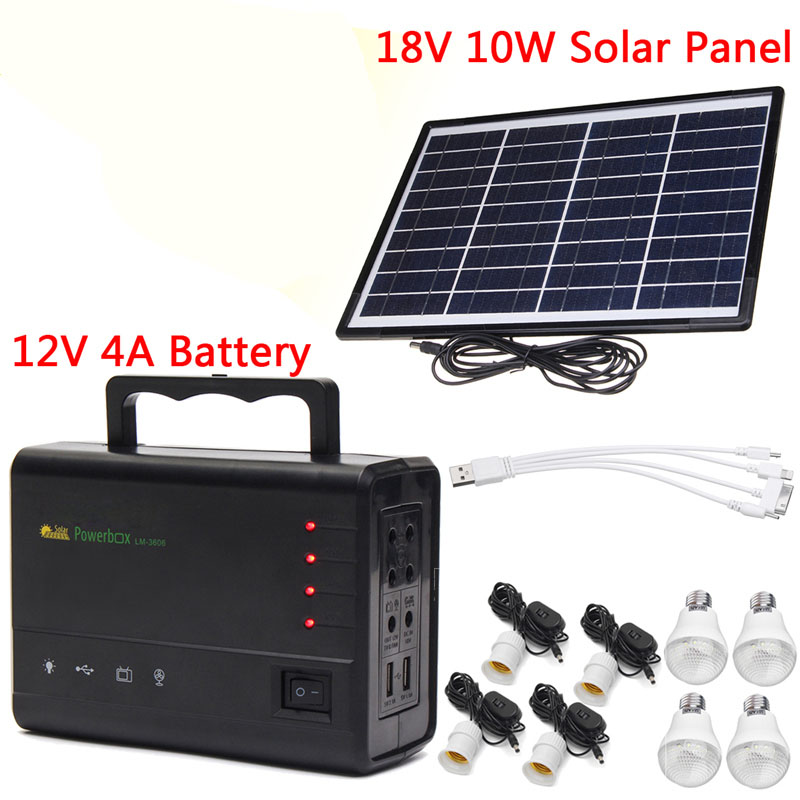 Portable Solar Panels Charging Generator Power System Home Outdoor Lighting for LED Bulb Solar GeneratorsPortable Solar Panels Charging Generator Power System Home Outdoor Lighting for LED Bulb Solar Generators