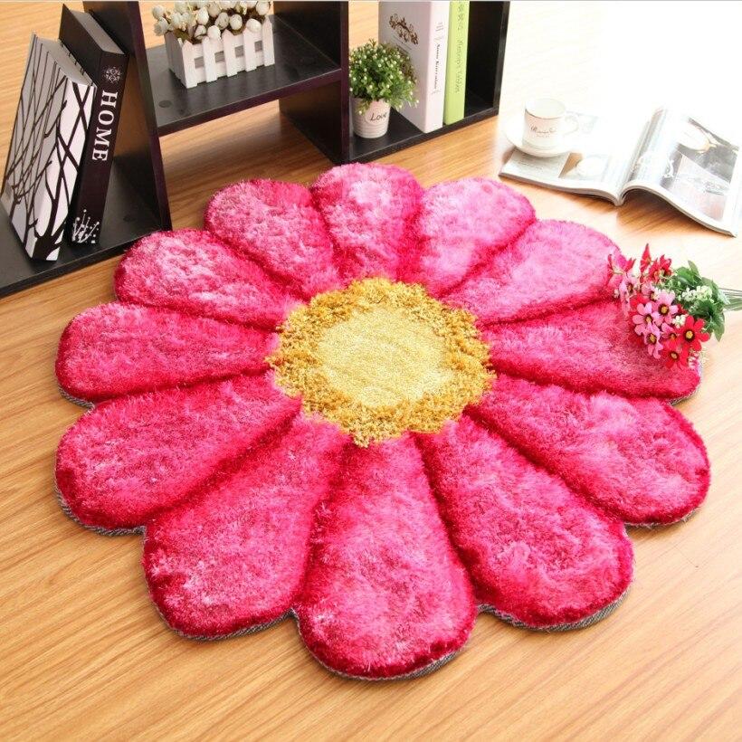 Tapis fait main de 90CM de diamètre pour salon tapis de chambre à coucher de mariage européen et tapis tapis de sol de vestiaire tapis de zone de chaise