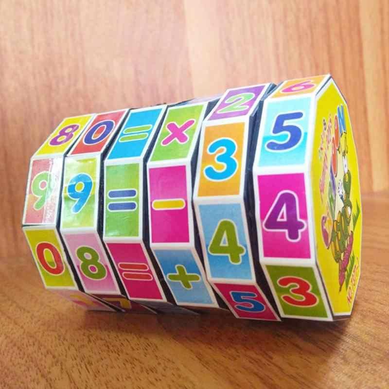 Grappige Kleurrijke Cilindrische Aantal Speelgoed Plastic Plezier Tellen Blok Kinderen Vroege Onderwijs Leren Gereedschap Intelligence Sticks Speelgoed