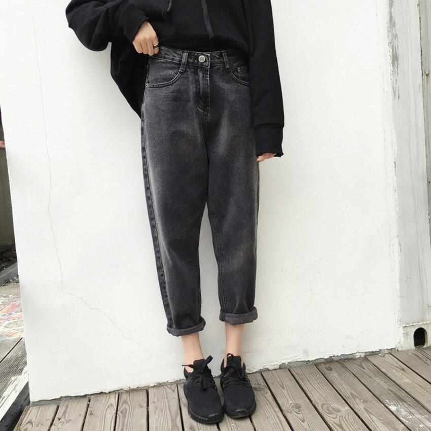 Boyfriend Jeans For Women Washed Harem Denim Pants High Waist Women's Jeans Plus Size 4XL Female Trousers