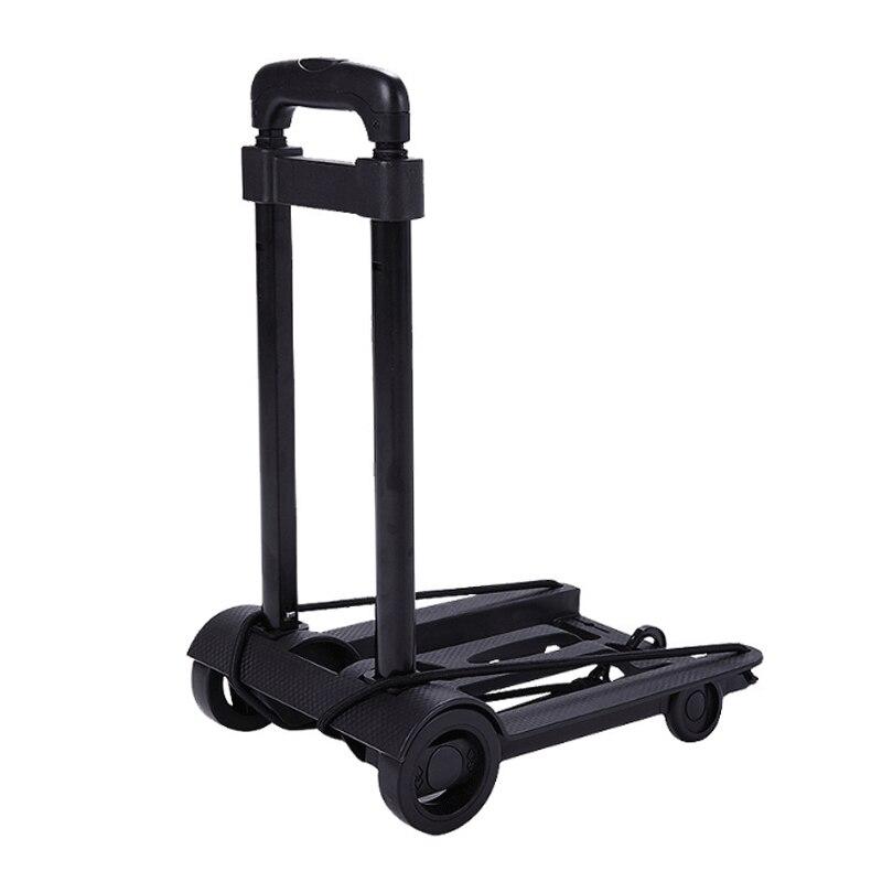 Remolque de viaje portátil de aleación de aluminio Carro de equipaje plegable Hogar y carro de equipaje de coche carrito de la compra remolque