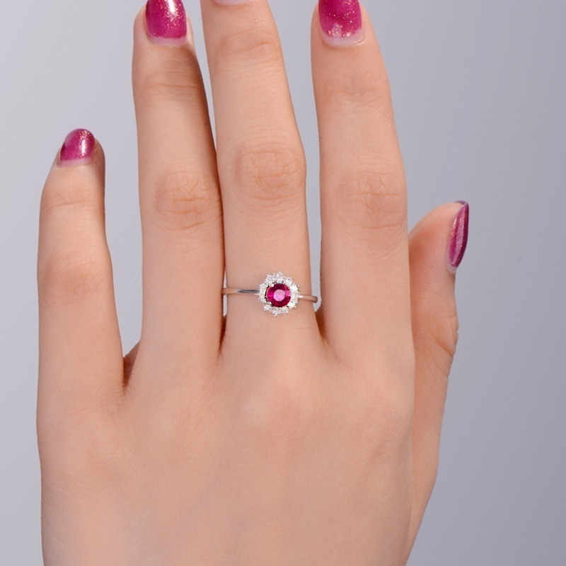 Office Red Lady Anillos De Ruby Amethystring Diamond Rings Band Bague Etoile Agate Jade Diamante Women anillo Jewelry bizuterias in Rings from Jewelry Accessories
