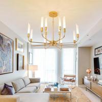 Hallway G9 Led Chandelier lighting for dining room Living Room Modern Gold suspension luminaire glass tube Kitchen Bar Lighting