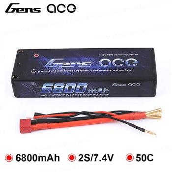 Gens ace Lipo Batería 2 S 6800 mAh Lipo 7,4 V batería 50C 1/10 coche 1/8 RC Coche para Traxxas Slash Emaxx bandido