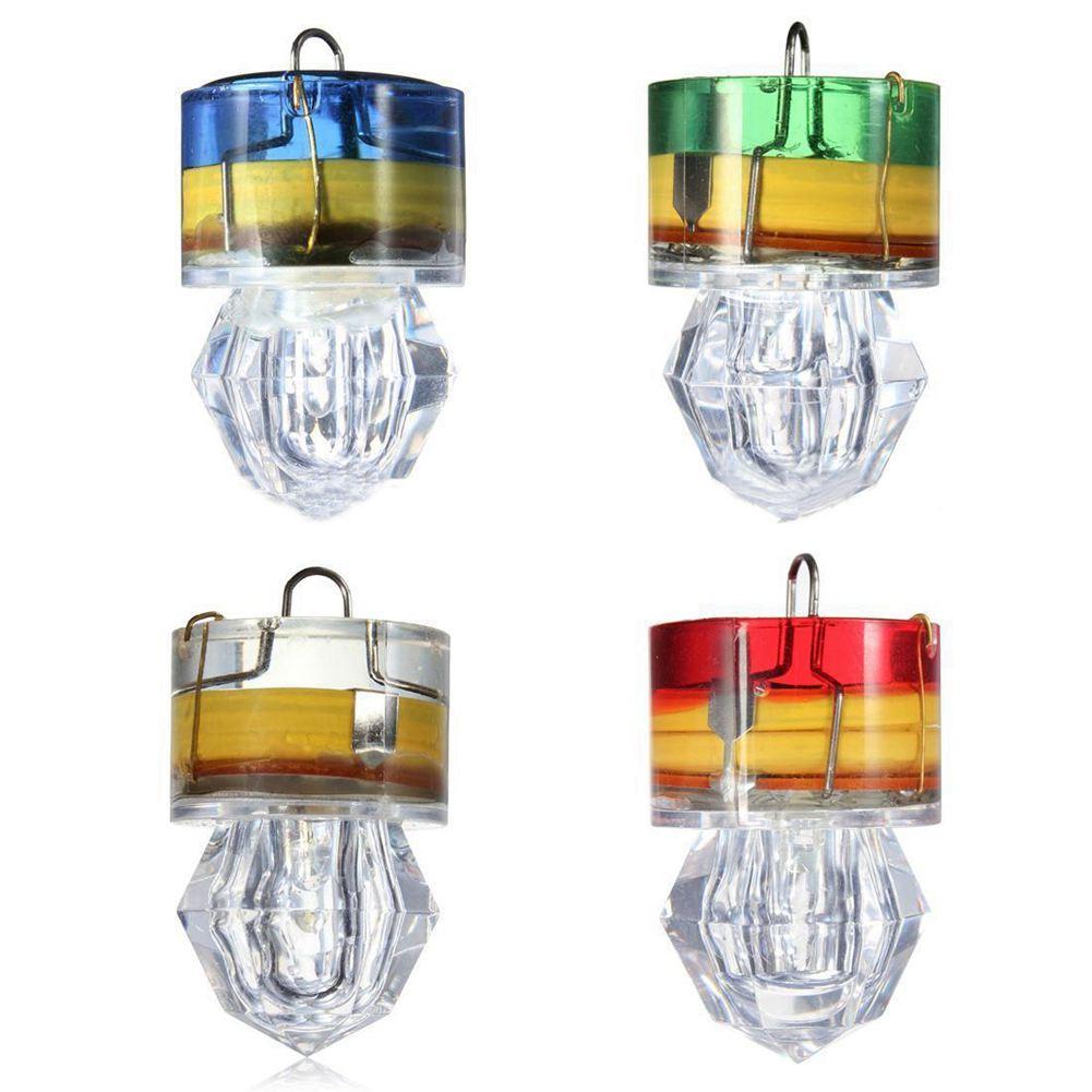 LED Fishing Bait Flashing Light Diamond Lure Deep Drop Underwater Waterproof