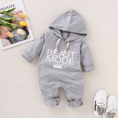 Newborn Baby Boy Girls Warm Letter Outfit Costume Romper Cotton Clothes Set