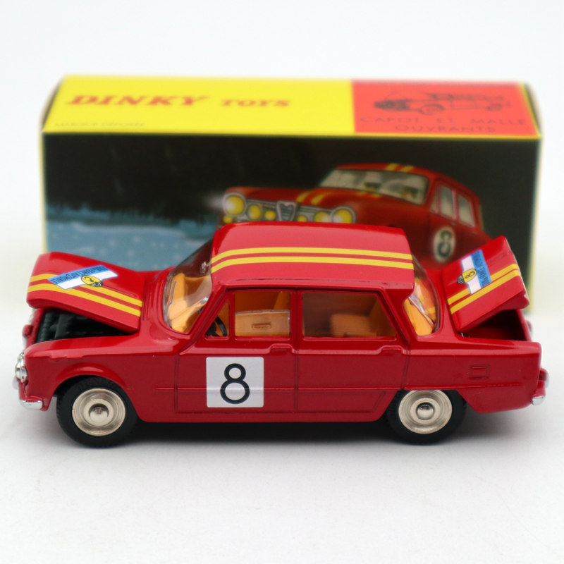 1:43 Atlas Dinky Toys 1401 ALFA ROMEO 1600 TI Rally #8 Diecast Models Limited Edition Collection