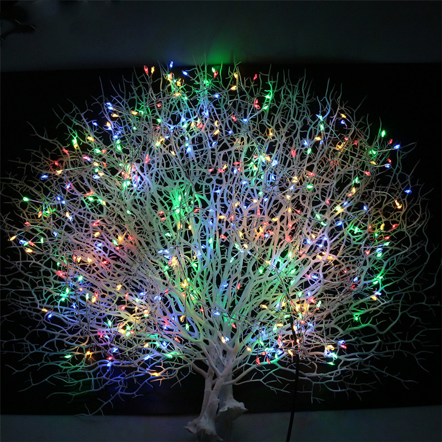 20X2M 400LED Copper Wire Fairy String Lights Garland Outdoor Christmas New Year Party Weddin Decoration With DC 12V 2A Adapter45