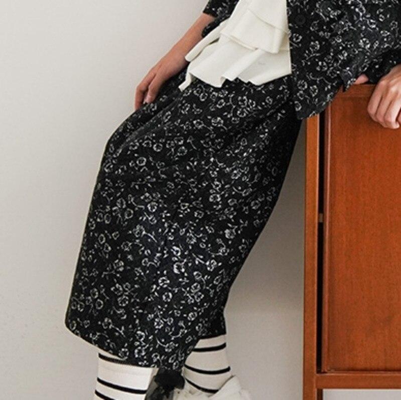 Printemps Élastique Jambe Black Large Automne Pantalon Impression 2019 Bas Femelle Partie Femmes Lâche Occasionnels Taille Neuf L686 wETnPHq