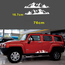 76x16cm White Snow Mountain Range Car Sticker Vinyl Decals Art Design Stickers For Jeep Car Truck 577511 001 for hp cq40 laptop motherboard ddr2 gl40 jal50 la 4101p mainboard 100% tested