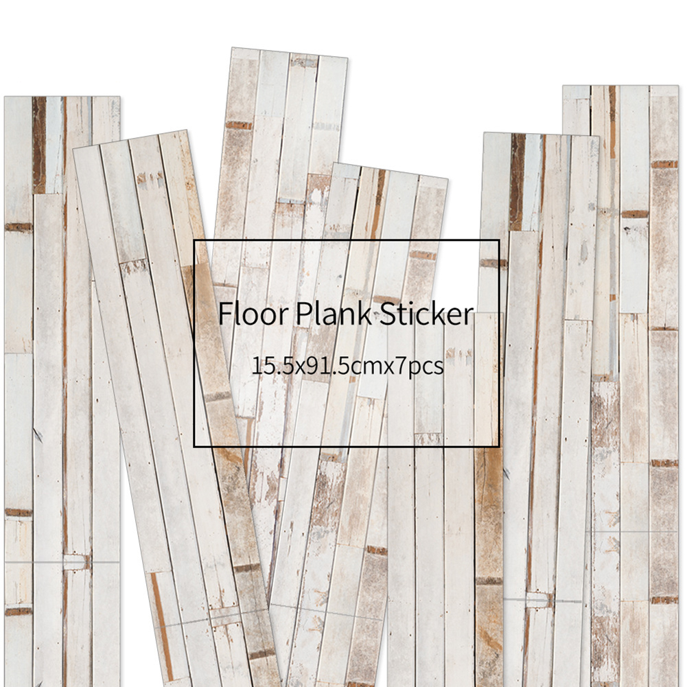 HXM 7pcs Floor stickers DIY Self adhesive Wall Tile Stickers Wood Grain Frosted Film Wallpaper Kitchen Living Room Decor #3