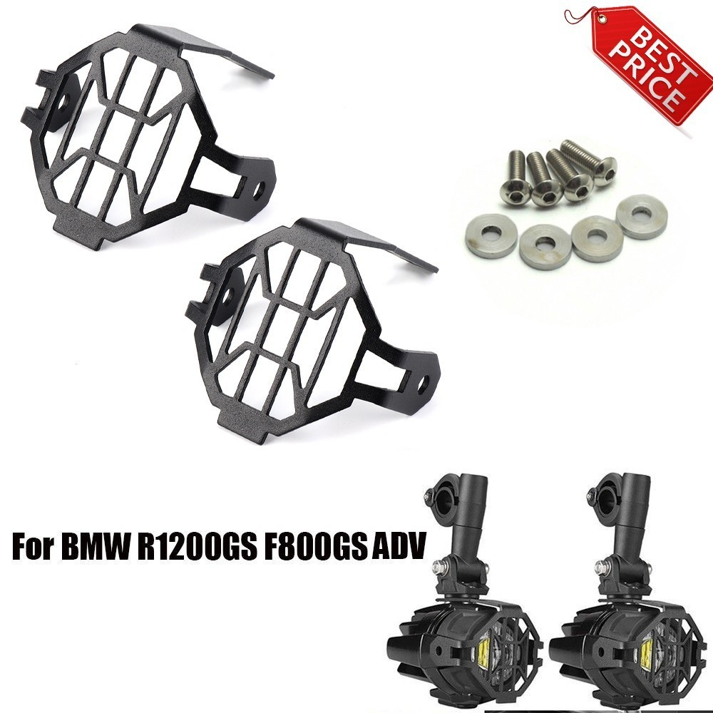 2pcs For BMW R1200GS F800GS / ADV Fog Light Auxiliary Driving Passing Lamp Cover For BMW Protector Guards for Fog Lights