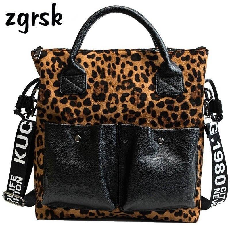 d2ba2249aaf US $20.85 46% OFF|Leopard Print Handbag Vintage PU Leather Ladies Luxury  Handbags Women Large Shoulder Messenger Bag Female Top Handle Bags -in ...