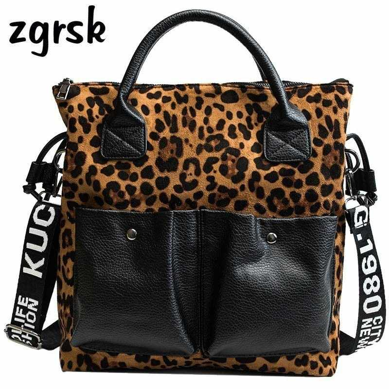 7226e8f91dd Leopard Print Handbag Vintage PU Leather Ladies Luxury Handbags Women Large Shoulder  Messenger Bag Female Top