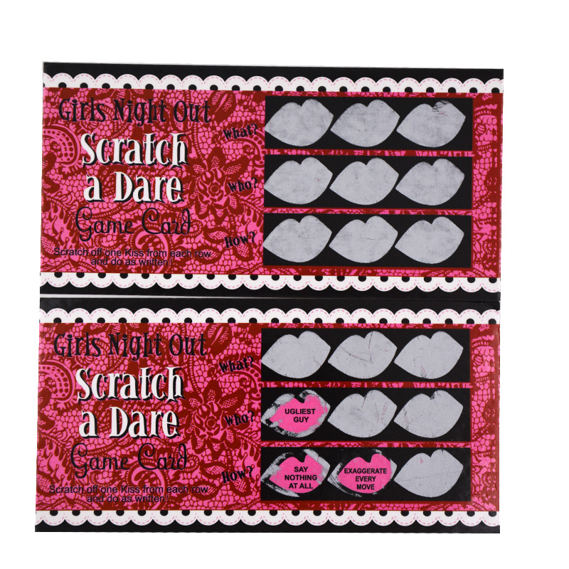 24pcs//Set Do a Dare Scratch Card Game Funny Hen Night Party Game Toys
