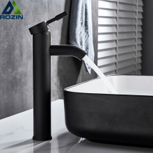Матовый черный кран для раковины, однорычажный кран для горячей и холодной воды, смеситель для ванной комнаты на бортике из латуни, кран с одним отверстием