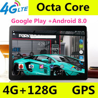 10.1 inch Octa Core 3G 4G LTE Tablets Android 8.0 RAM 4GB ROM 64GB 8.0MP Dual SIM Card Bluetooth GPS Tablets 10 inch tablet pc