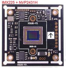 """AHD M (720 p) 1/3 """"exmor imx225 cmos sensor de imagem + nvp2431 cctv câmera pcb placa módulo utc suporte (partes opcionais)"""