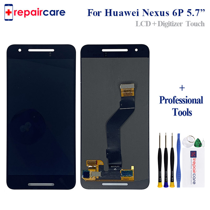 5.7 Per Huawei Google Nexus 6 P Schermo Lcd Display + Touch Panel Digitalizzatore Per Google Nexus 6 P display di montaggio5.7 Per Huawei Google Nexus 6 P Schermo Lcd Display + Touch Panel Digitalizzatore Per Google Nexus 6 P display di montaggio
