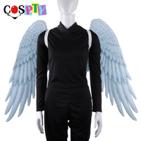 Cospty Halloween Carnival Party Fancy Adult Girl Angel Cosplay Dress Big Large White Wings Costume