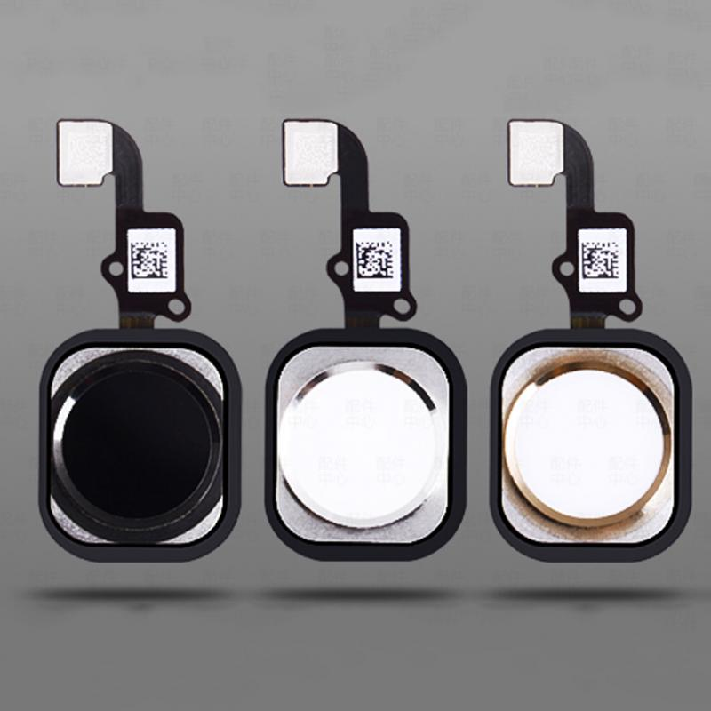 1pcs Replacement Home Button Sensor With Flex Cable Phone Assembly Spare Part For IPhone 6/6plus Black White Gold Three Color