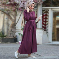 Muslim Handmade Pearl Bat Sleeve Robe Middle East Kaftan Abaya Dubai Fashion Ramadan Moroccan Arab Turkey Islamic Clothing New