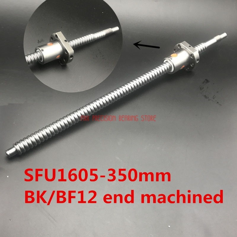 2018 New Linear Rail Hiwin Sfu1605 350mm Ball Screw Set : 1 Pc Rm1605 350mm+1pc Nut Cnc Part Standard End Machined For Bk/bf12