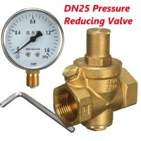 DN25 Brass Water Pressure Regulator with Gauge Water Flow Pressure Maintaining Valve Tap Water Pressure Reducing Valve