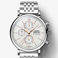 Luxury Brand Switzerland LOBINNI Men Watches Perpetual Calender Auto Mechanical Men's Clock Sapphire Leather relogio L13019-9