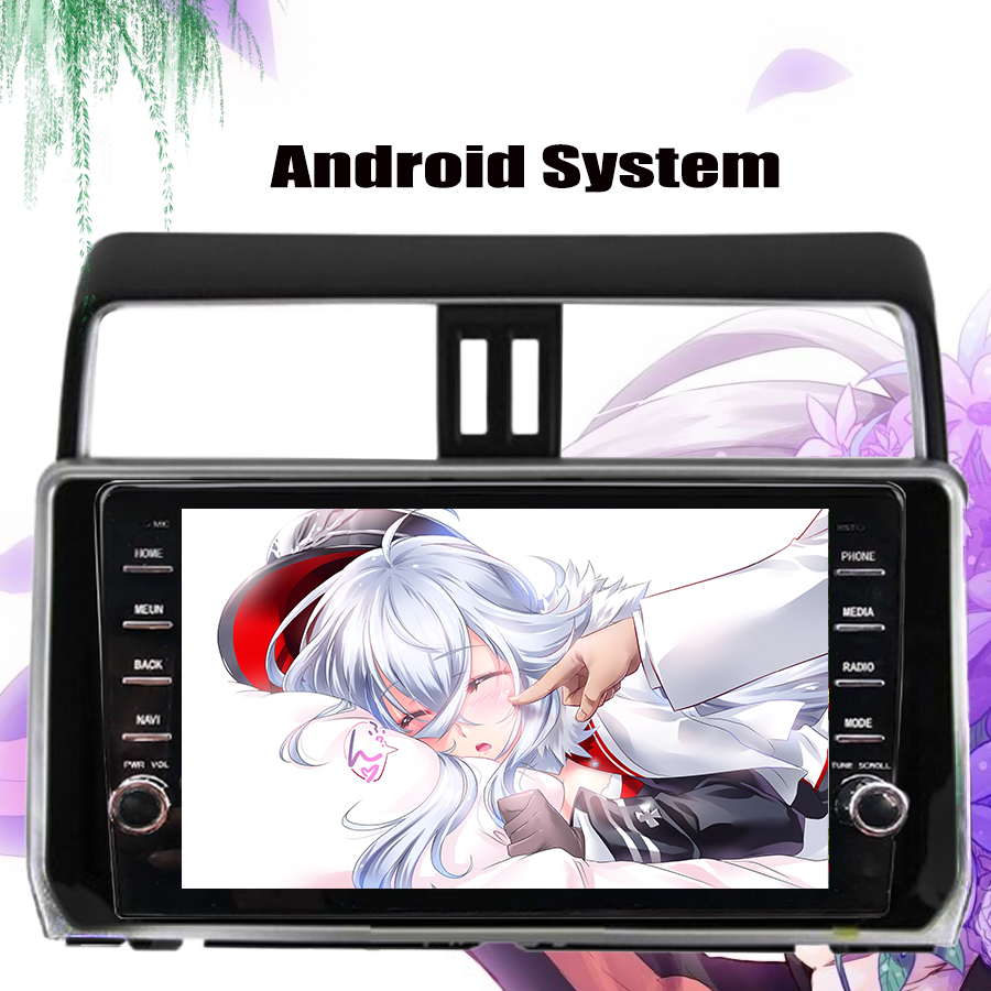 IPS 9 inch Android 10.0 4G modem Car DVD for <font><b>Toyota</b></font> Prado <font><b>150</b></font> LC150 GPS <font><b>2018</b></font> 2019 <font><b>Radio</b></font> USB 4+64GB Carplay Head Unitno DVD image