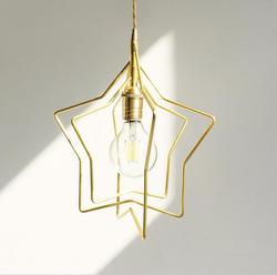Gwiazda Gold I kreatywny światła Bar kawiarnia proste skandynawskie osobowość twórcza czarny sypialnia mała Candelier złoty