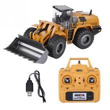 HUINA 583 RC camión excavadora Hobby Bulldozer aleación ingeniería camión Control remoto juguetes para niños Auto RC construcción hidráulica