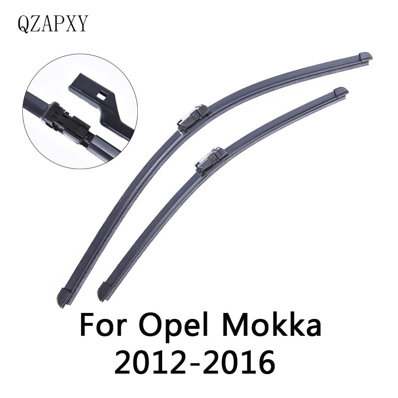 QZAPXY Wipers Blade For Opel Mokka from 2012 2013 2014 2015 <font><b>2016</b></font> Windscreen wiper Wholesale Car Accessories image