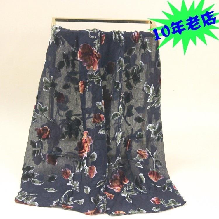 Velvet Silk Scarf Women Size:23*140cm Women Men #171 DOUBLE-DECKER