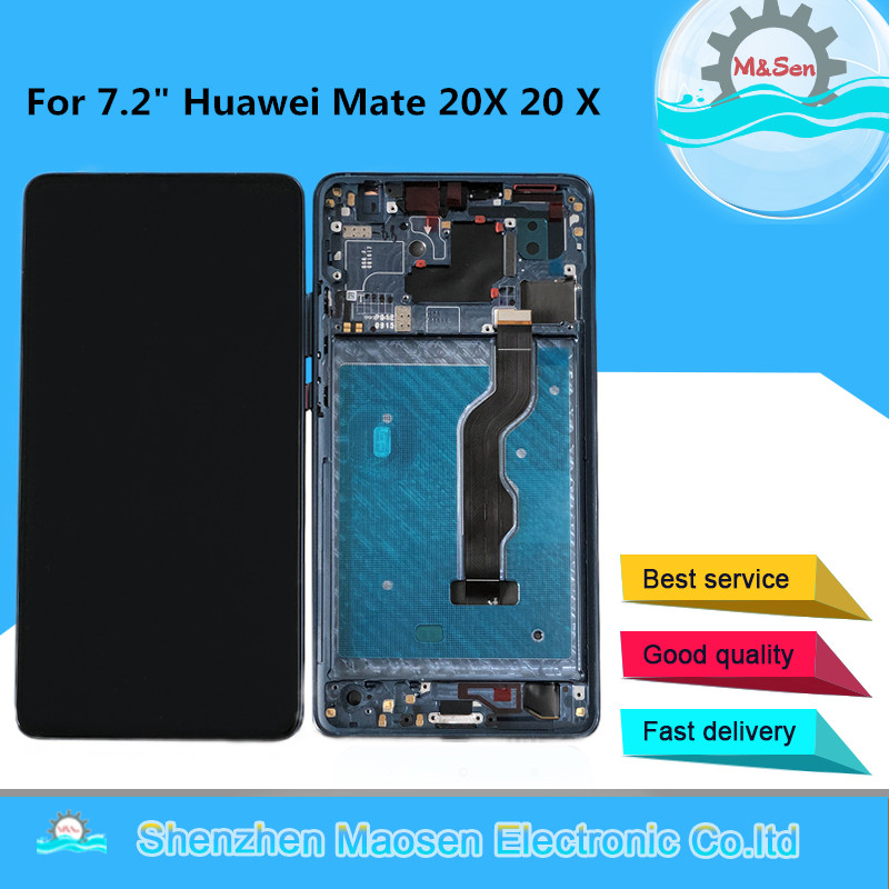 Original Tested M&Sen For 7.2 Huawei Mate 20X 20 X LCD Screen Display+Touch Panel Digitizer Frame For Huawei Mate 20 X DisplayOriginal Tested M&Sen For 7.2 Huawei Mate 20X 20 X LCD Screen Display+Touch Panel Digitizer Frame For Huawei Mate 20 X Display