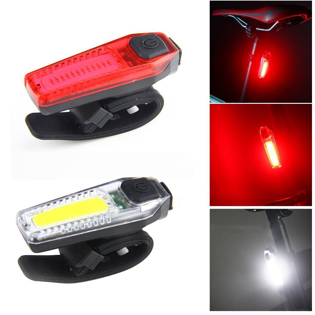 USB Перезаряжаемые на открытом воздухе Велоспорт велосипед задний фонарь