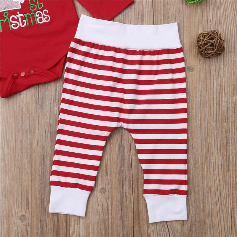 a106ba81fc4 ... Xmas Baby Girl Clothes Set My First Christmas Kid Party Outfit New Year Costume  Bodysuit+ ...