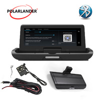 Android 4G 8 inch navigation reversing driving recorder GPS image integrated machine 4LED one button
