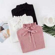 2018 Новый Модный тонкий вязаный свитер женский длинный рукав осенний свитер женский s пуловеры свитера зимний свитер женский